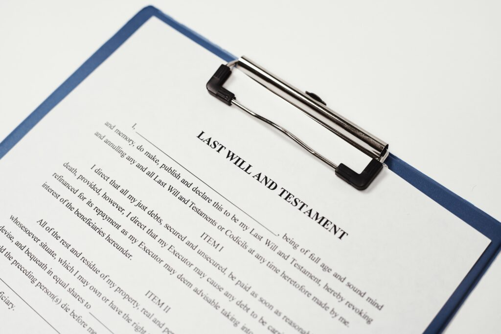 Last Will and Testament guides the probate process