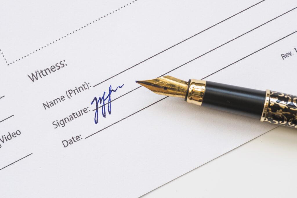 Witness signature on will